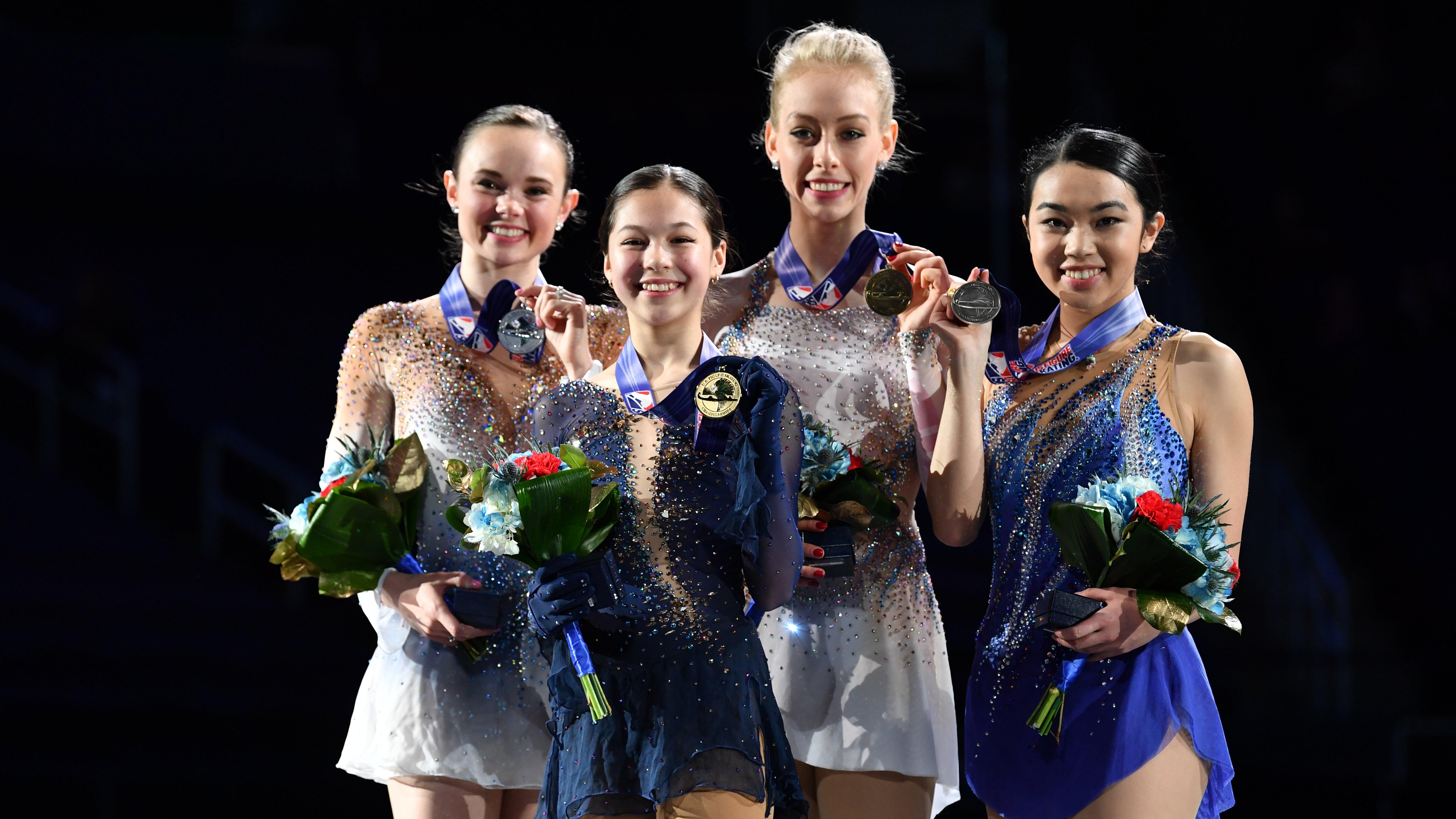 Championship Ladies Medalists - 2020 Toyota U.S. Figure Skating Championships