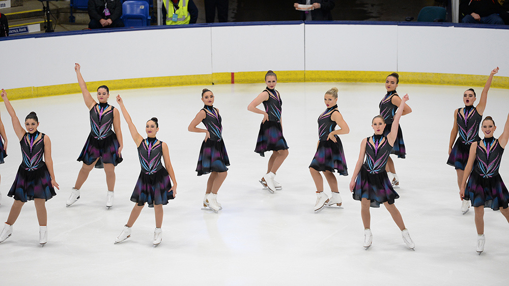 Collegiate synchronized skating team