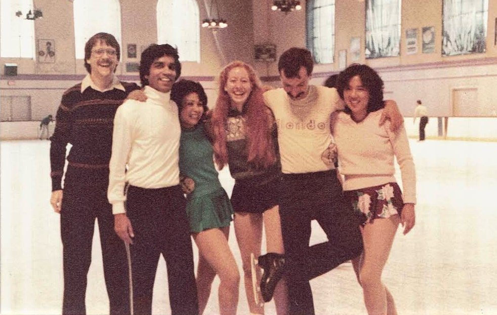 Cheryl Nickel and her adult skating friends at Pasadena Rink in 1984