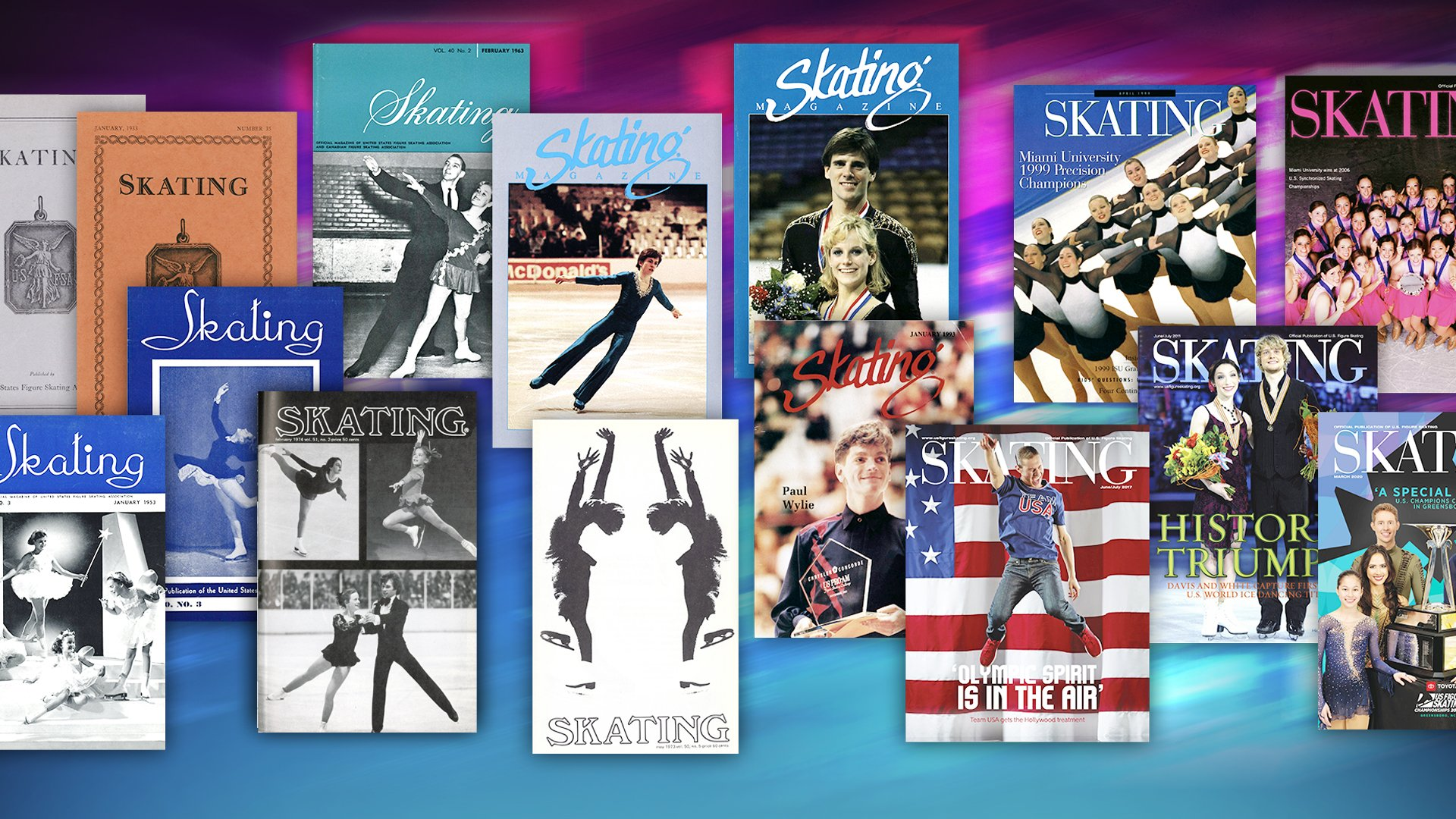 SKATING Magazine covers from past years