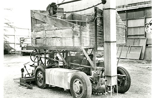 A picture of the first Zamboni ice resurfacer