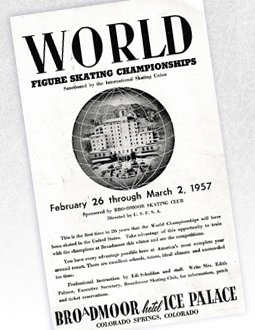 A flyer for the 1957 World Figure Skating Championships