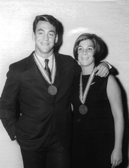 Vivian and Ronald Joseph with their medals.