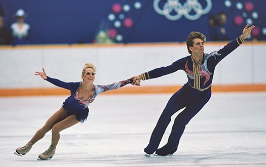 Jill Watson and Peter Oppegard perform at the 1988 Olympic Winter Games.